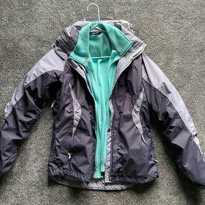 North Face rain jacket with fleece insert